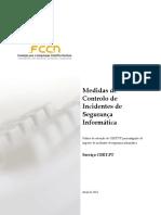 Medidas de Controlo de Incidentes de Seguranca Informatica