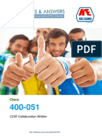 Pass4sure 400-051 - CCIE Collaboration Written,  100% Money back Guarantee