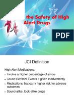 Safety of High Alert Medication
