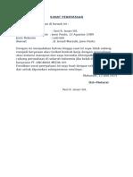 Surat Pernyataan Penempatan