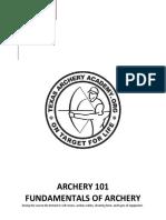 ARCHERY 101 Fundamental of Archery Ver2 Final
