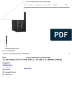 PC microturn HP ProDesk 600 G2 (ENERGY STAR)(P1H09EA)_ HP® România