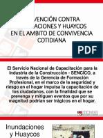 Charlas de Prevencion Inundaciones y Huaycos