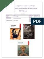Lecturas 2016 2017 Departamento de Lengua IES Atenea