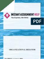 Sample Assignment on Organizational Behaviour