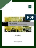 Guia Cultura Europea 2016 2017