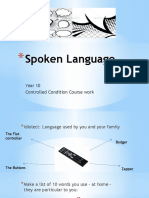 Spoken Language Power Point