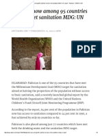 Pakistan Now Among 95 Countries to Have Met Sanitation MDG_ UN Report - Pakistan - DAWN