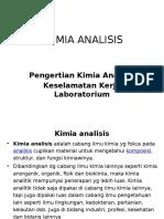 Kimia Analisis = (P1) Pengertian Kimia Analisis & Keselamatan Kerja di Laboratorium