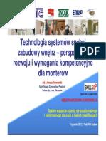 Technologia Systemów Suchej Zabudowy Wnętrz – Perspektywa Rozwoju i Wymagania Kompetencyjne Dla Monterów
