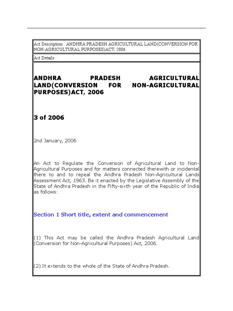 Andhra pradesh agricultural landconversion for non agricultural andhra pradesh agricultural landconversion for non agricultural purposes act 2006 1cx fine penalty lease nvjuhfo Image collections