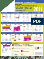 Calendario UNAM 2011