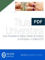 Curso Universitario en Análisis y Gestión de Conflictos en la Empresa + 4 Créditos ECTS