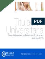Curso Universitario en Relaciones Públicas + 4 Créditos ECTS