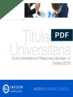 Curso Universitario en Relaciones Laborales + 4 Créditos ECTS