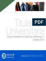 Curso Universitario en Coaching y Mentoring + 4 Créditos ECTS