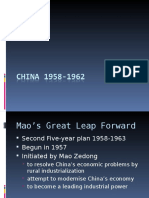 China Great Leap 1958-1962