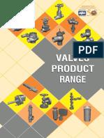 Valves Product Range Pamplet