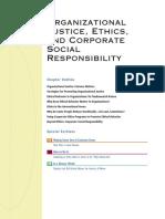 Organizational Justice Etc.