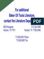 Baker oil tools info