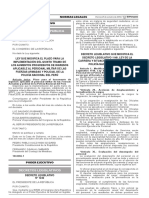 Ley que modifica el plazo para la implementación del quinto tramo de los aumentos progresivos de ingresos aplicable al personal militar de las Fuerzas Armadas y Policial de la Policía Nacional del Perú