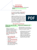 Audacity Manual