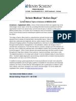 """Henry Schein Medical """"Action Days"""""""