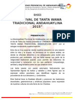 Bases i Festival de Tanta Wawa