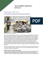 Vida y Muerte de La Política Educativa Neoliberal en El Perú 2
