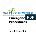staff emergency procedures packet 2016
