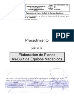 Procedimiento Para Generacion de Planos as-Built de Equipos Mecanicos