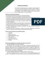 Institutional Planning