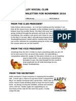 VSC November Newsletter for 2016