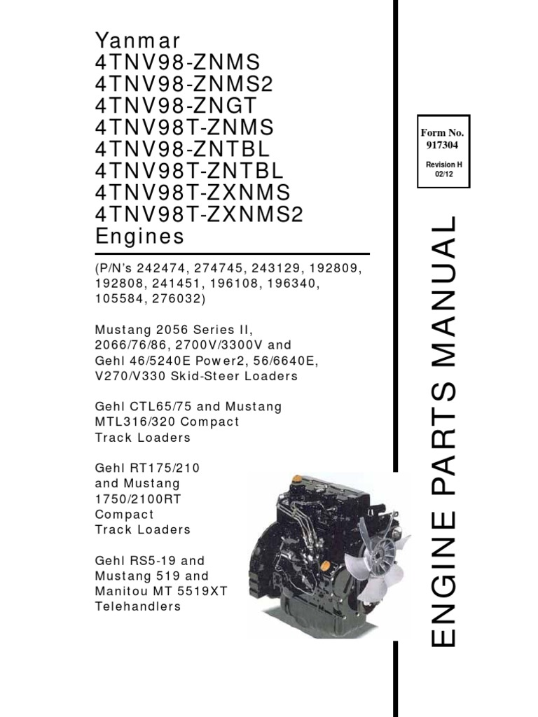 GEHL - YANMAR 4TNV98 pdf | Ford Vehicles | Vehicle Technology