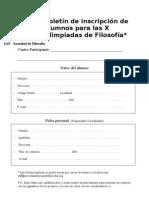 Boletín de inscripción de centros