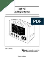 Casmed 740 User Manual