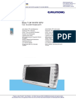 Grundig DAVIO 7LW 18-5701 Portabler TV DC 0489166 001
