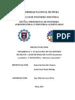 Desarrollo y Evaluacion de Una Infusion Filtrante a Base de Hojas de Yacon y Manzanilla