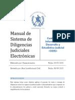 Diligencias judiciales electronicas