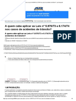 A Quem Cabe Aplicar as Leis Nº 5.970_73 e 6