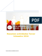 Red de Gestores Para El Desarrollo Resumen Tercer Trimestre 2016