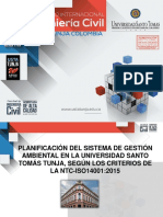 6. Planificacion Del Sistema de Gestion Ambiental en La USTA, Segun Los Criterios de La NTC ISO 14001 Del 2015
