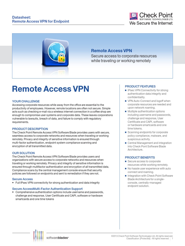 Ds Endpoint Remote Access | Virtual Private Network