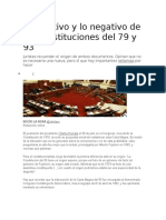 Lo Positivo y Lo Negativo de Las Constituciones Del 79 y 93