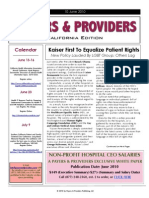 Payers & Providers – Issue of June 10, 2010