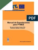 Manual de Exportaciones Para PYMES Mercado de Estados Unidos FDA, Alimentos, Bebidas y Fármacos