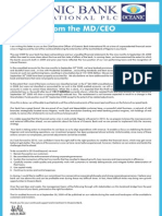 Oceanic Bank - Letter From John Aboh - CEO