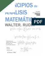 Principios de Analisis Matematico