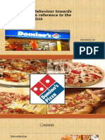 Consumer Behaviour towards fast foods in reference to the Domino's Pizza