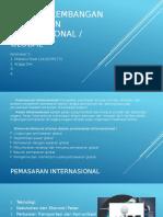 Pola Perkembangan Pemasaran Internasional
